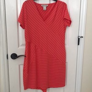 Coral casual summer dress.